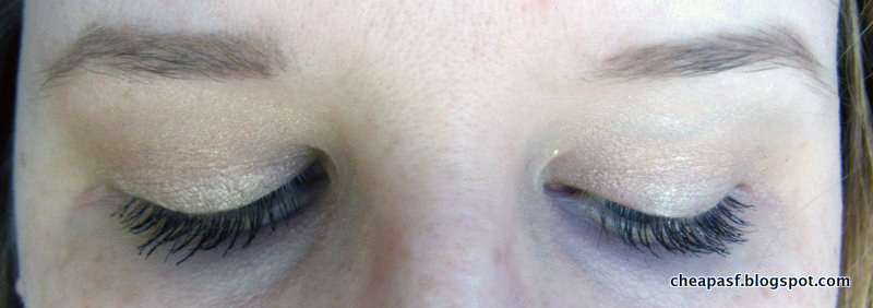 Stila Smudge Crayon Waterproof Eye Color in Kitten and Maybelline Color Tattoo in Barely Branded