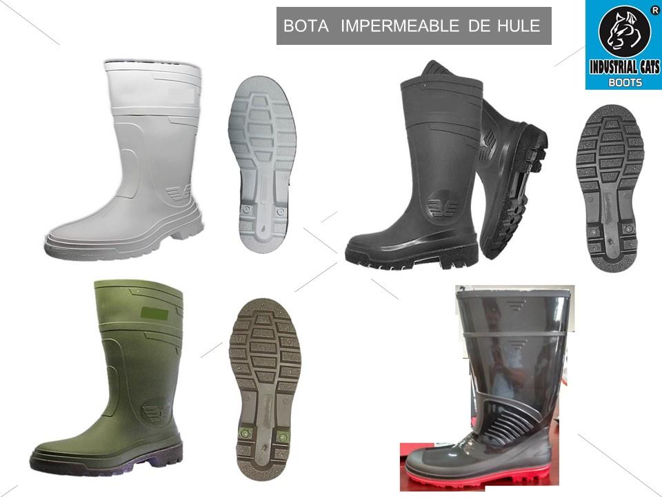 BOTAS DE HULE IMPERMEABLES