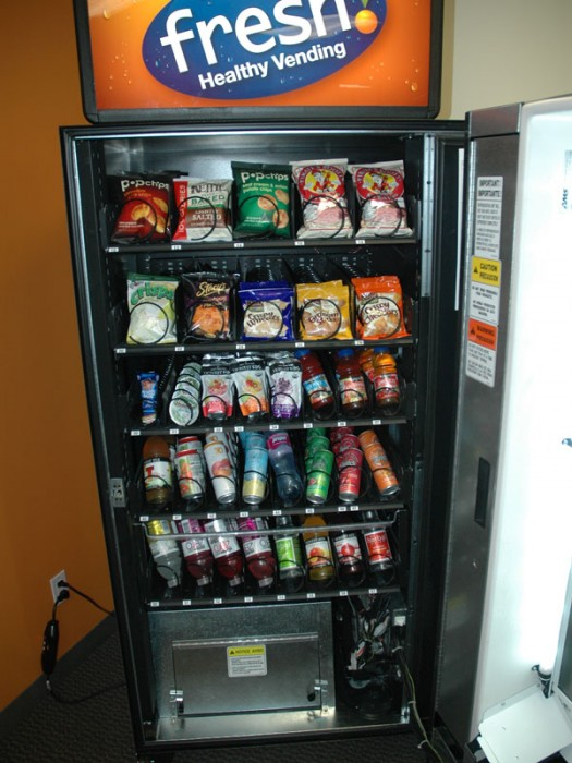 vending machines in public schools essay School's today have vending machines that are filled with snacks and drinks, which is a good thing for students because they provide a quick outlet to help settle growling stomachs the only downside to having a snack in between meals is what they are snacking on.