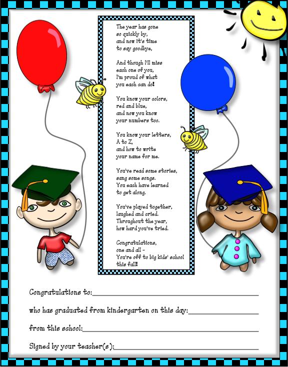 Clipart Graduation Kindergarten on Graduation And Hermit Crab Preschool Activities Crafts