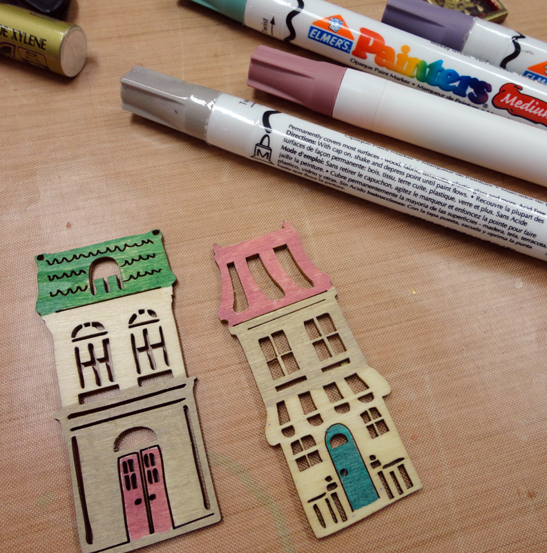 Resin crafts envirotex lite as a glaze wood shapes and for Markers for wood crafts