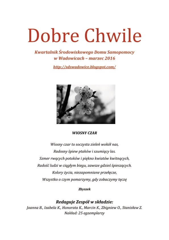 Dobre Chwile Marzec 2016