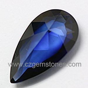 pear blue sapphire gemstones
