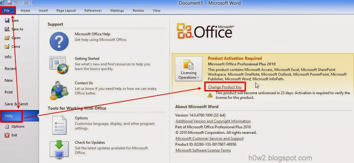 How to change product key office 2010 how to computer - How to change ms office 2010 product key ...