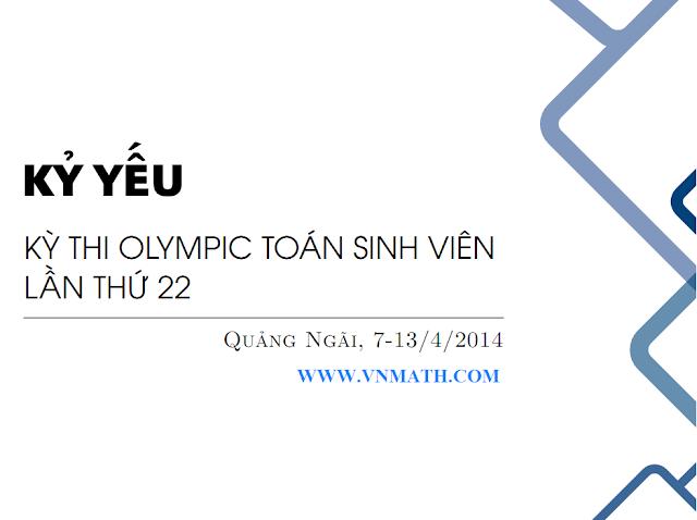 Đề thi Olympic Toán Sinh viên năm 2015