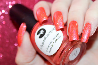 Swatch of Captivating Coral from Lilypad Lacquer