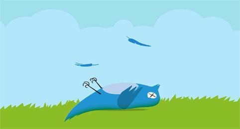 Social media Twitter bird