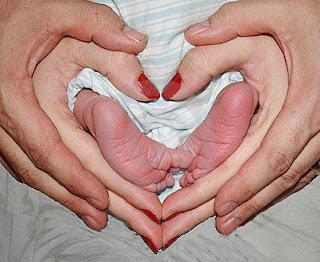 Papa, mama y bebe fotografias pies de bebes