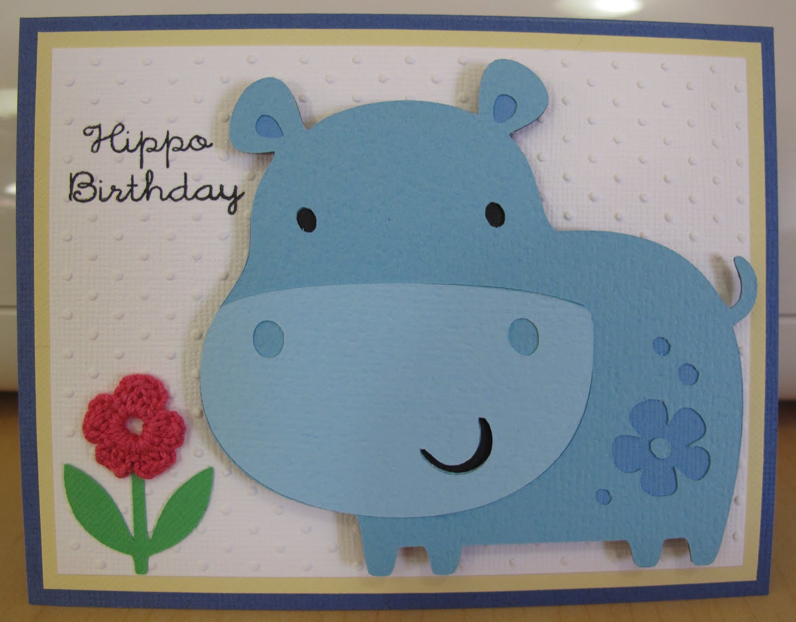 Cards by cricut hippo birthday hippo birthday bookmarktalkfo Image collections