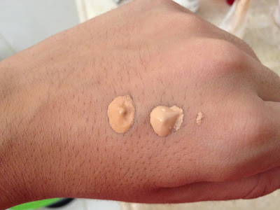 swatches base dermablend cor gold e nude
