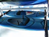 Single kayaks (3 cockpit, 2 sit-on-tops)