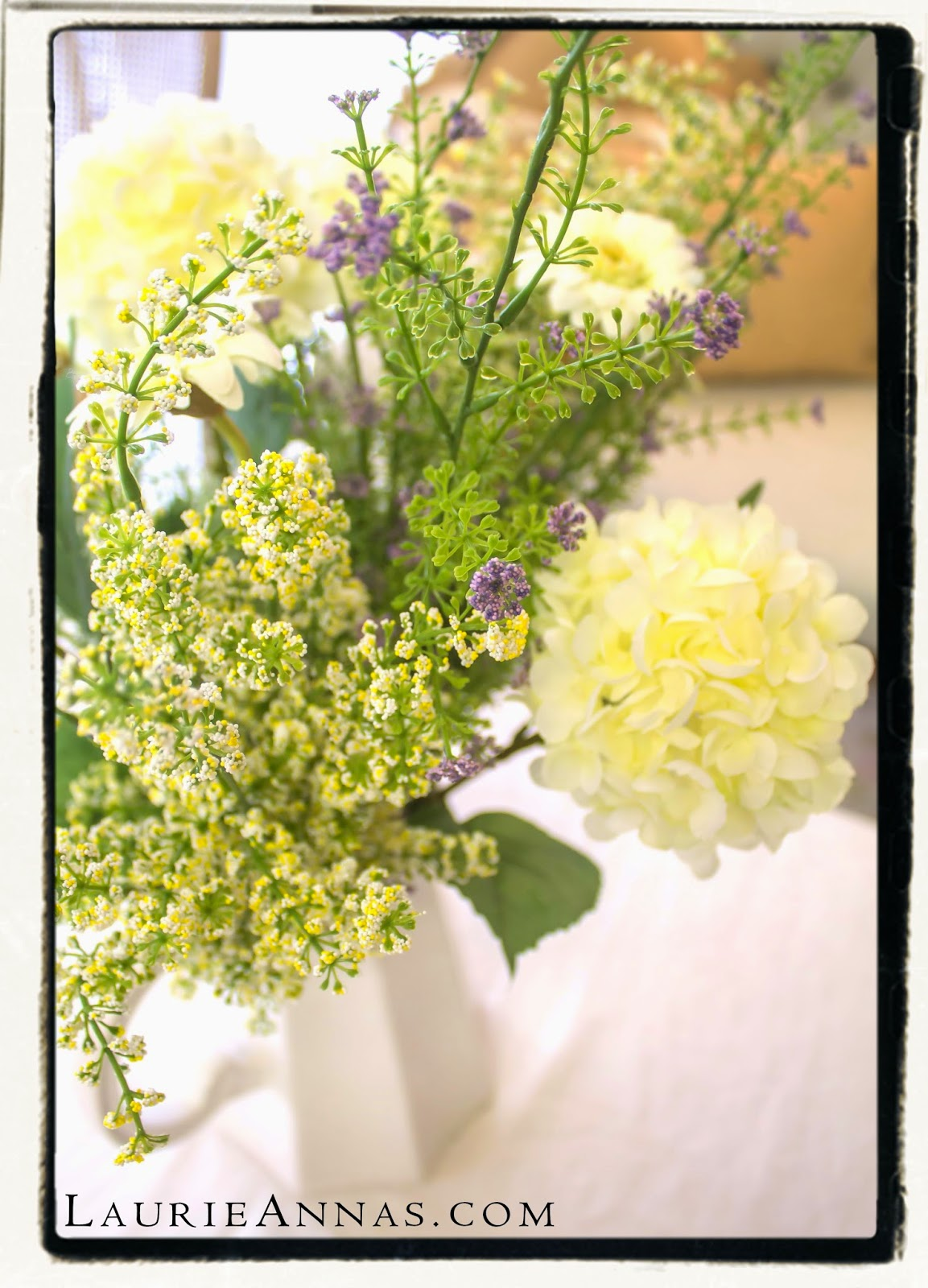 Laurieannas Vintage Home Silk Floral Arrangings Easier Than