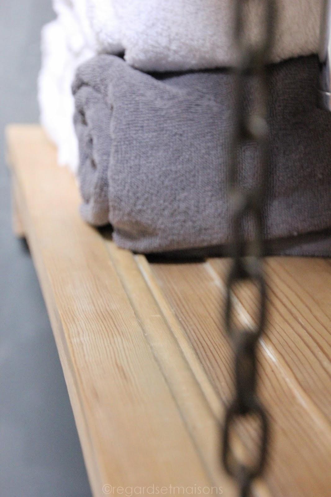 Regardsetmaisons: ma nouvelle salle de bain de béton et de bois ...