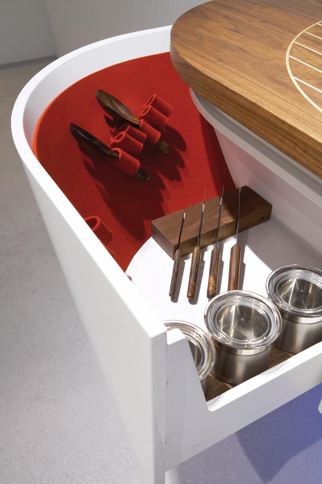 Am nagement de l 39 avant du concept bateau cuisine blanche for Concept de cuisine