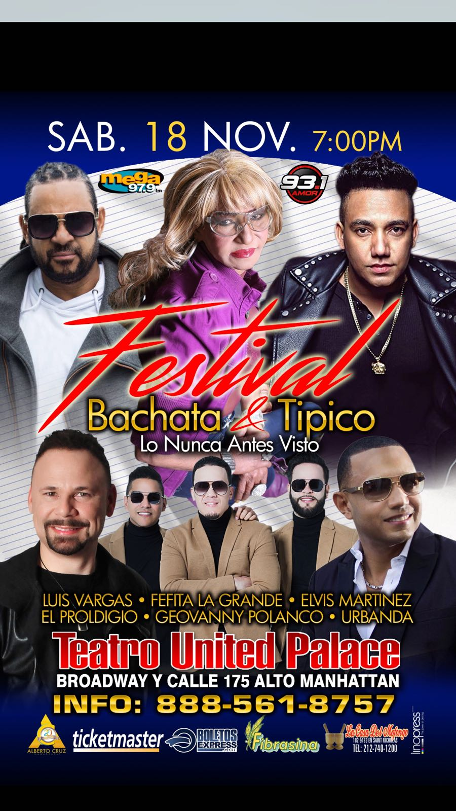 FESTIVAL BACHATA Y TIPICO / UNITED PALACE DE NEW YORK