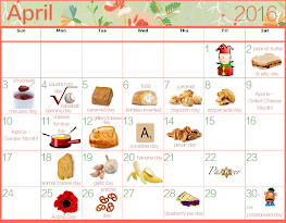 April's Food Celebrations