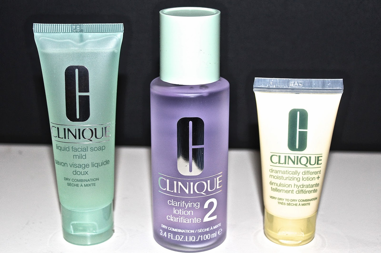 picture of the products included in a Clinique 3 Step kit