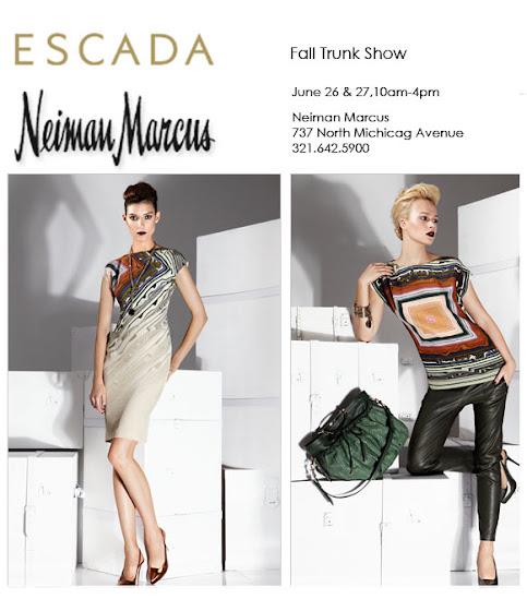 Escada Neiman Marcus trunk show