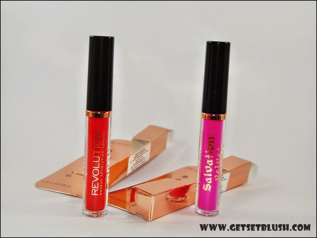 Makeup Revolution Salvation Velvet Lip Lacquer in You Took My Love,Keep Trying For You - Review,Swatches,LOTD