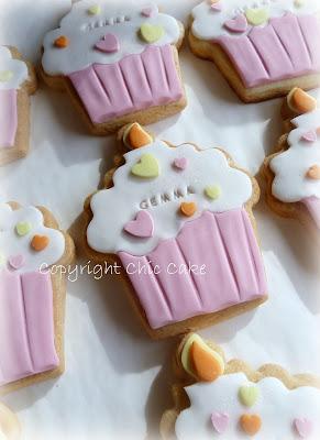 Chic Cake Biscotti Per Il Primo Compleanno A Forma Di Cupcake