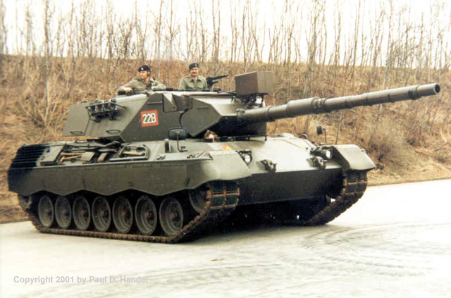 German Leopard 1 Battle Tank
