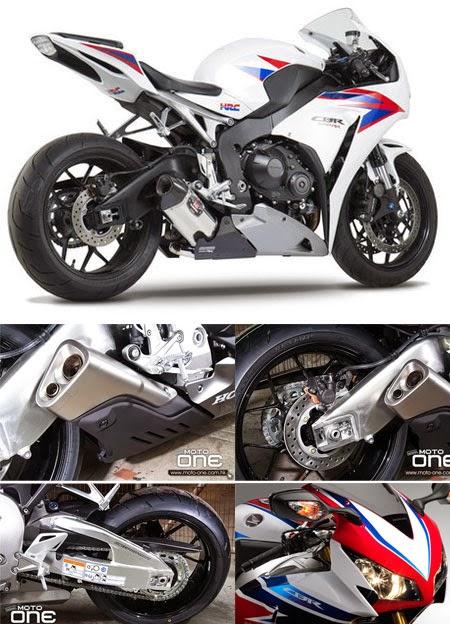 Gambar Motor CBR 1000 cc Putih