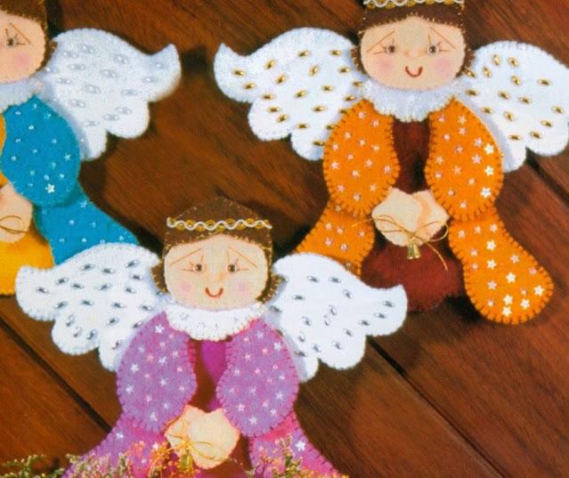 Figuras navideñas bonitas en fieltro ~ Mimundomanual