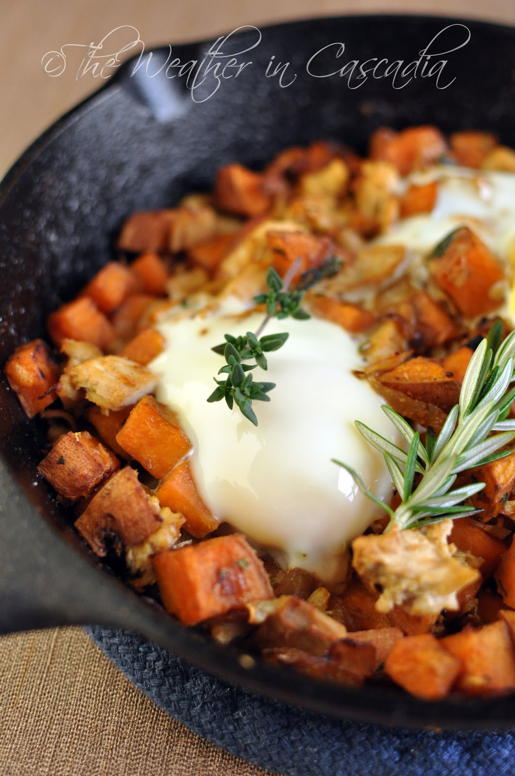 The Weather in Cascadia: leftover turkey & sweet potato hash