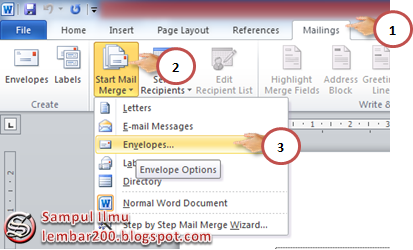 Cara Mudah Membuat Dan Print Amplop Di Word