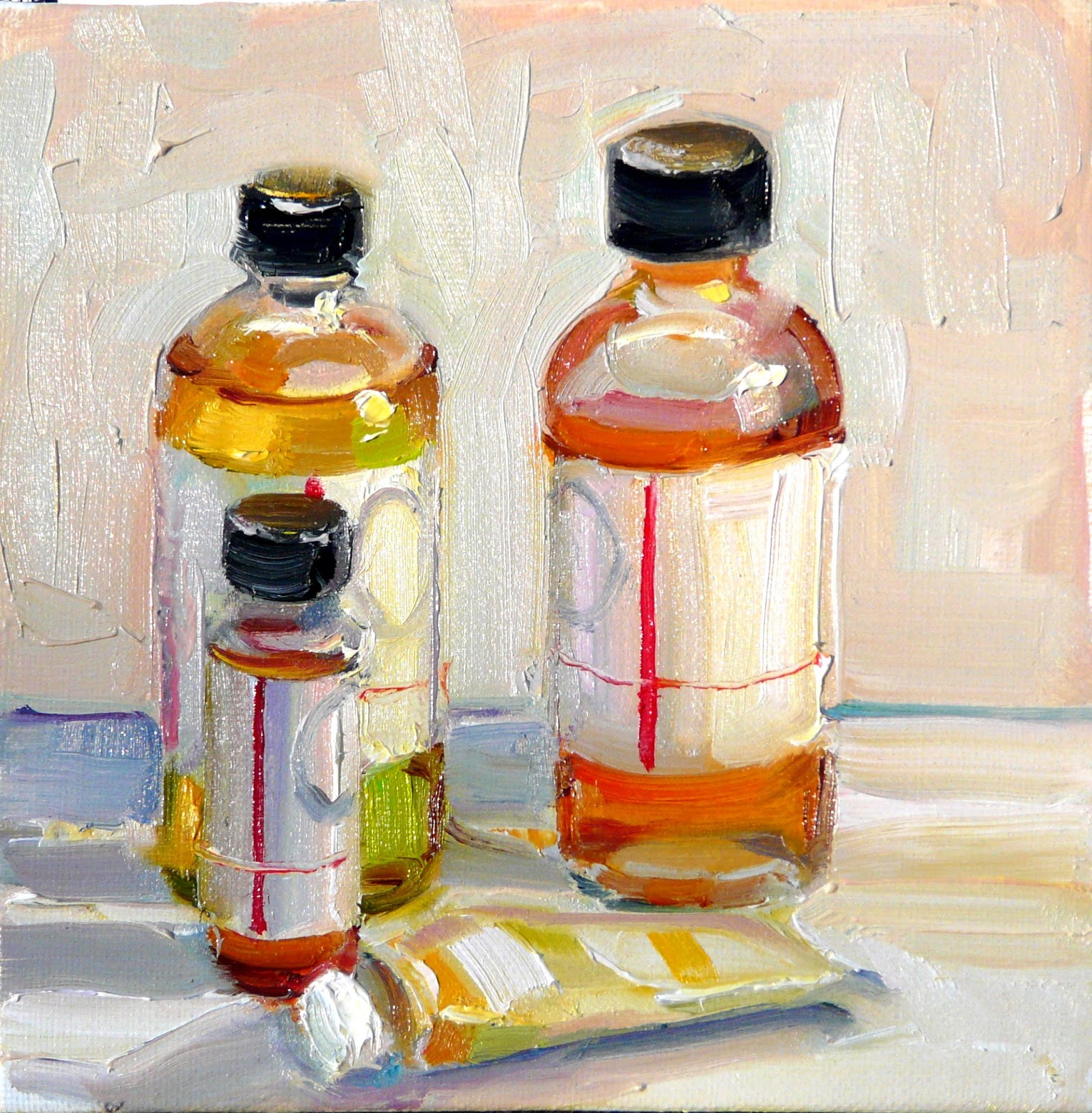 Art every day paint tube and medium still life oil on for Oil paint price