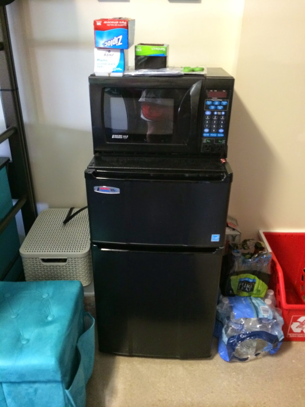 This Dorm Does Not Have Two Separate Rooms. The Beds Are Lofted, And They  Have Desks Underneath. The Fridge, Freezer, And Microwave Are In The  Bedroom As ... Part 70