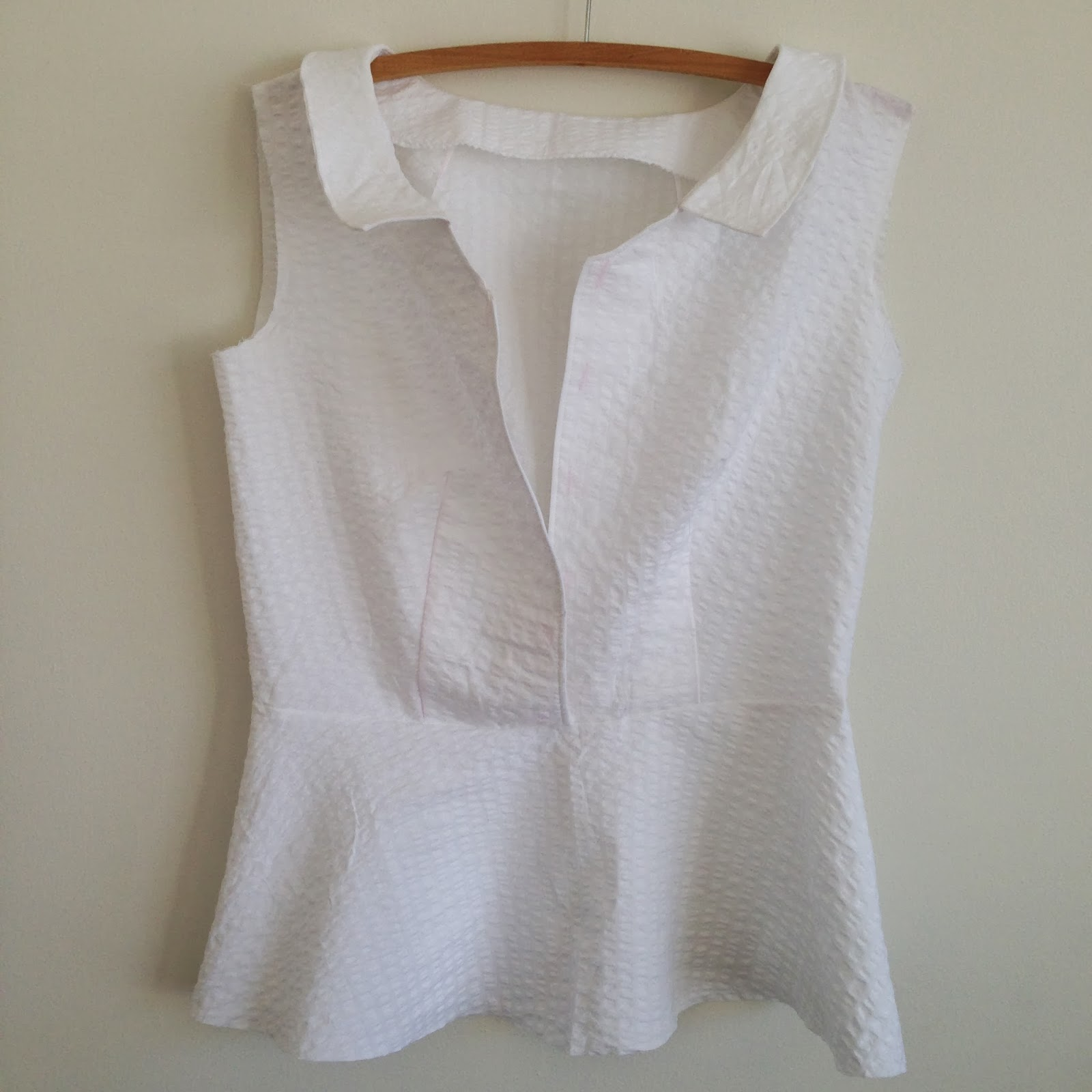Colette Hawthorn Blouse Modified