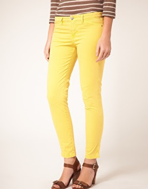 bright yellow jeans