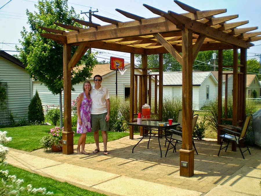 Pergola Gazebo Fences Wooden Items Garden