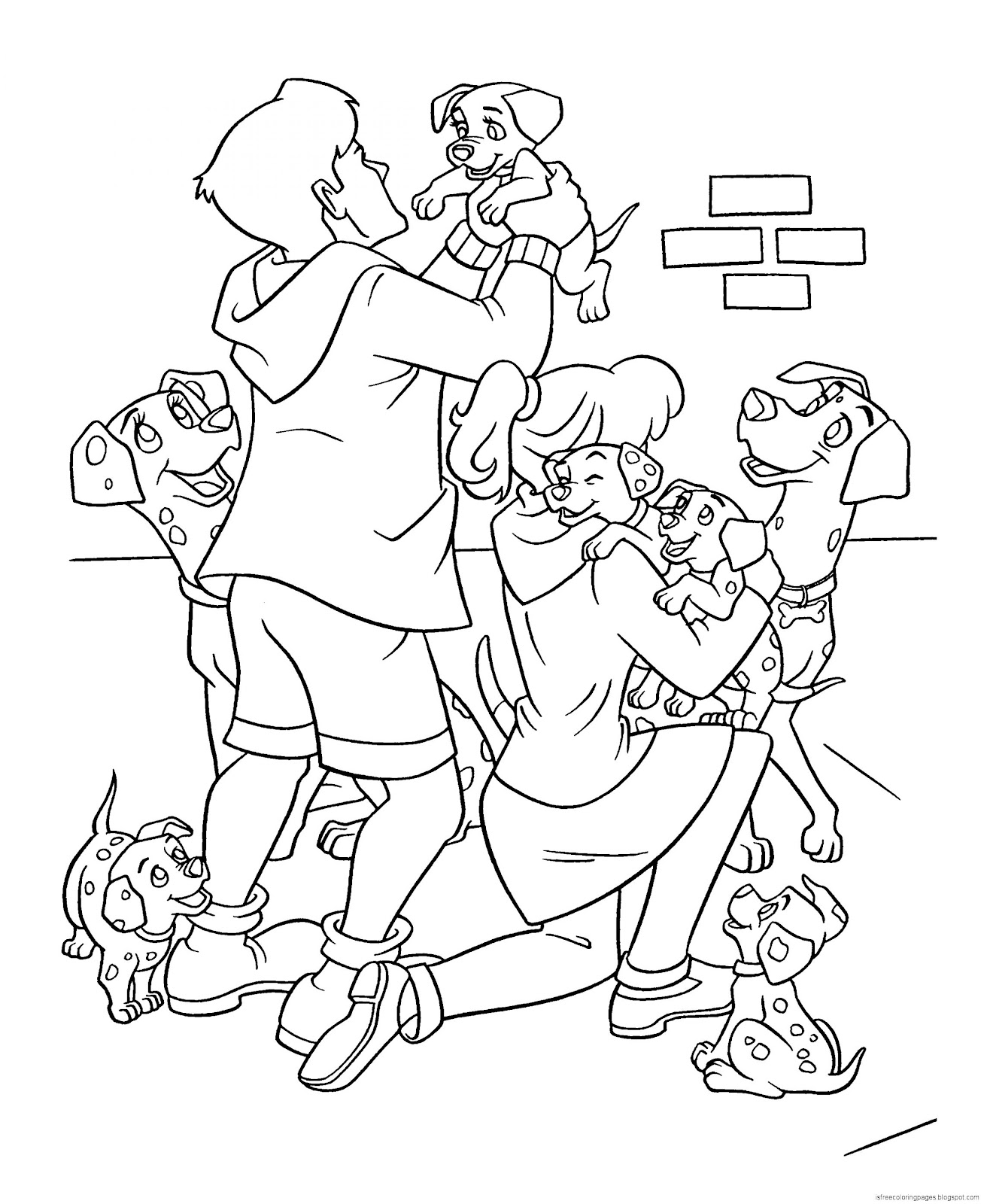 102 Dalmatians Coloring Pages