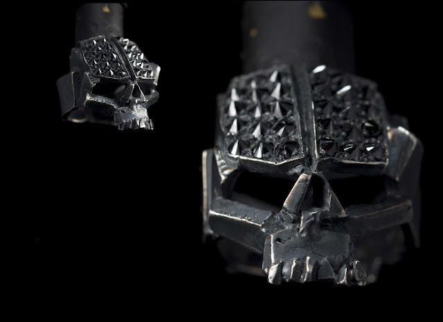 diamond embossed skull ring from manila's 13 lucky monkey