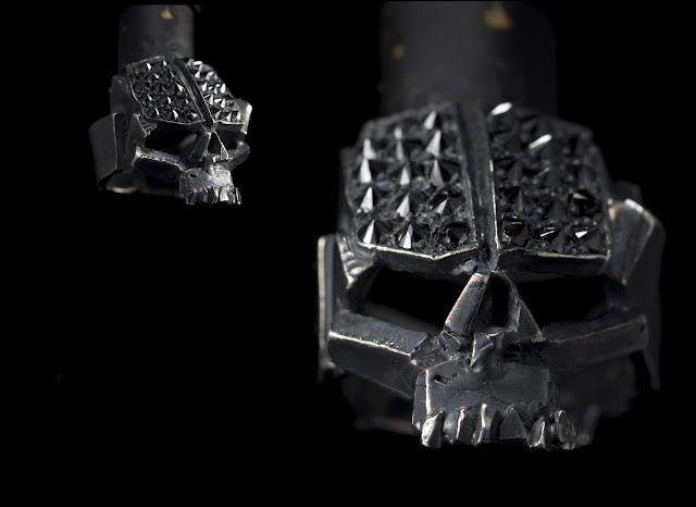 diamond embossed skull ring from manila's 13 lucky monkey