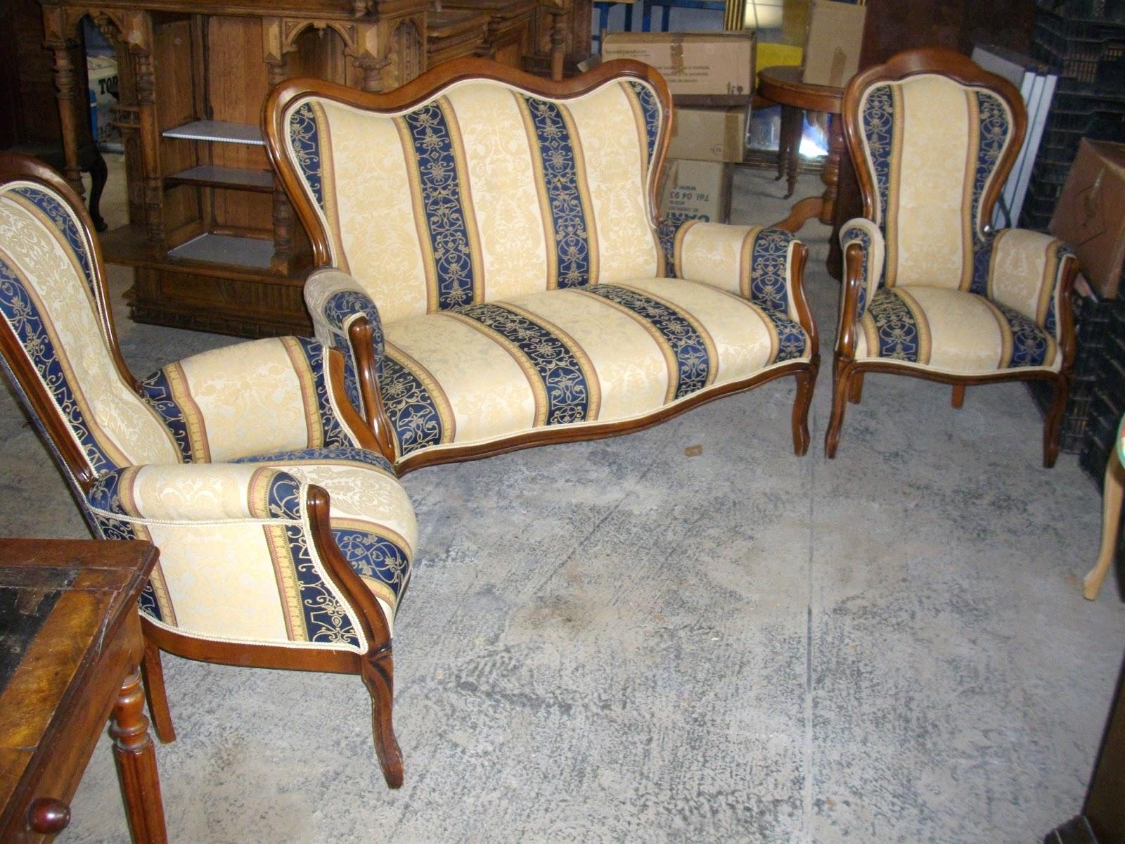 salon de style napol on canap 2 fauteuils meubles ancien salon de style napol on i. Black Bedroom Furniture Sets. Home Design Ideas