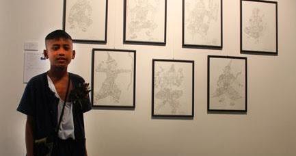 ภาพวาดลายเส้น ตัวละครในวรรณคดีไทย : ร่วมแสดงภาพวาดณ ที่ Subhashok The Arts Ce...