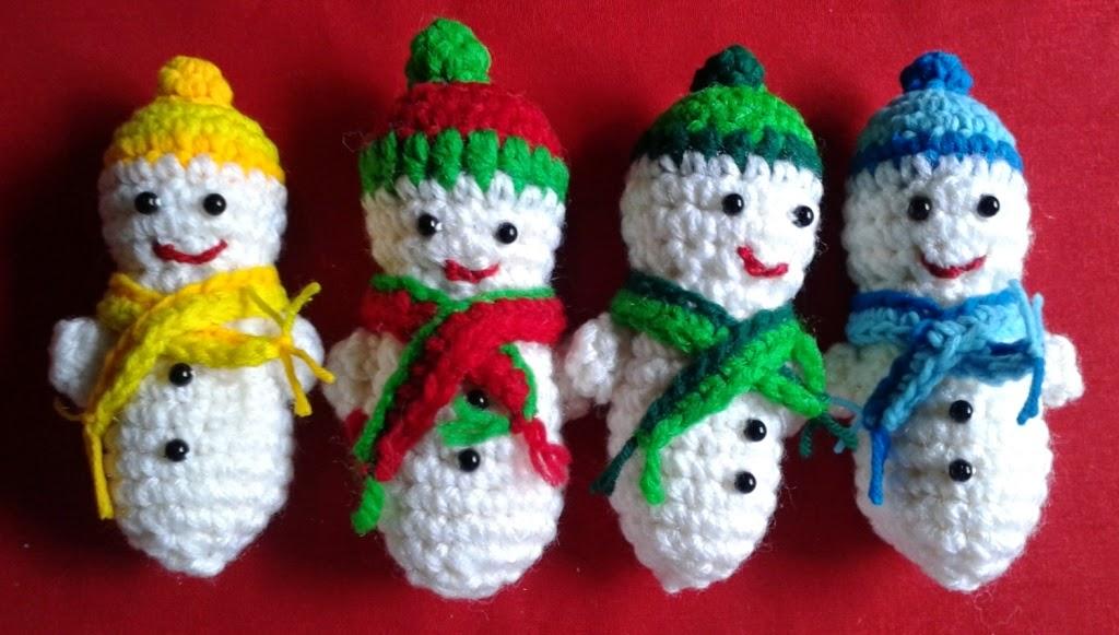 Free Crochet Patterns Free Crochet Pattern For Snowmen