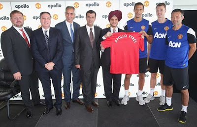 Manchester United three-year regional partnership Apollo Tyres 2013
