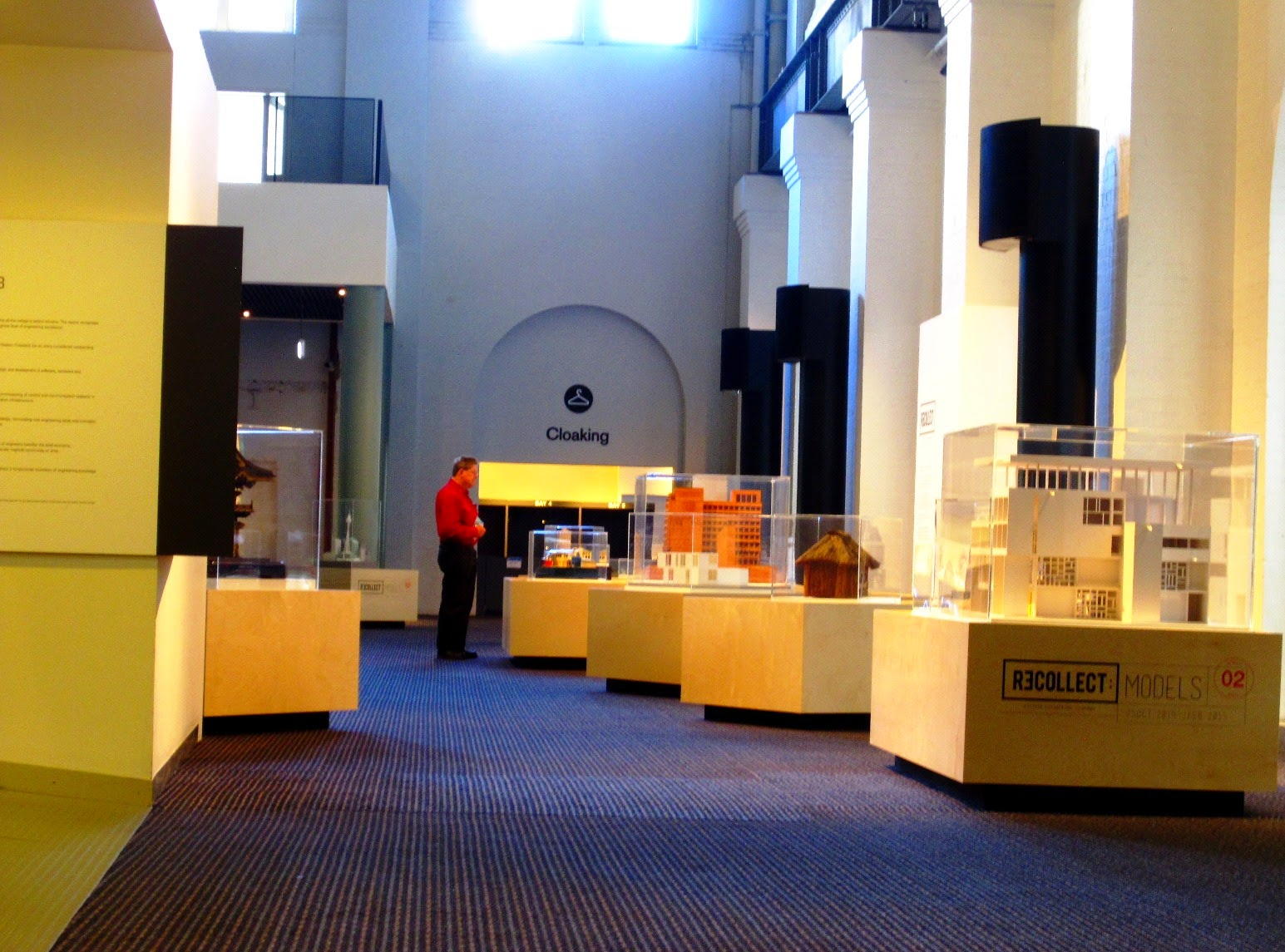 View of the exhibition Recollect 2: Models at the Powerhouse Museum.