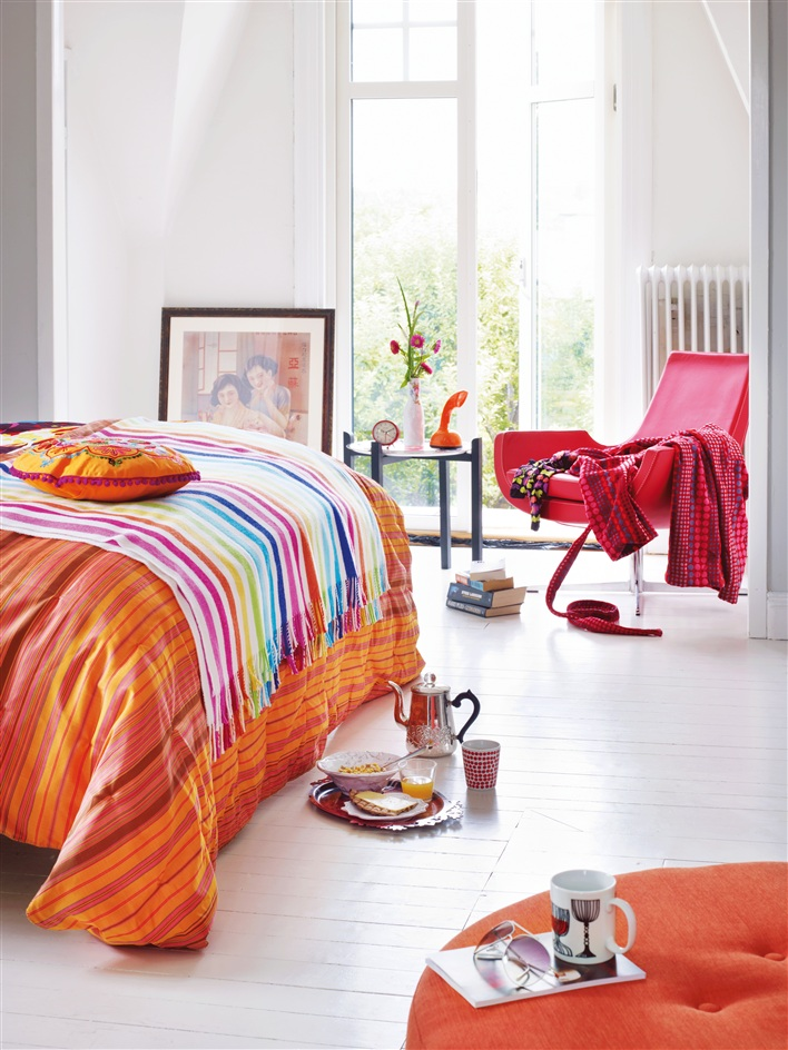 Ideas For Bedrooms Orange Pink And White