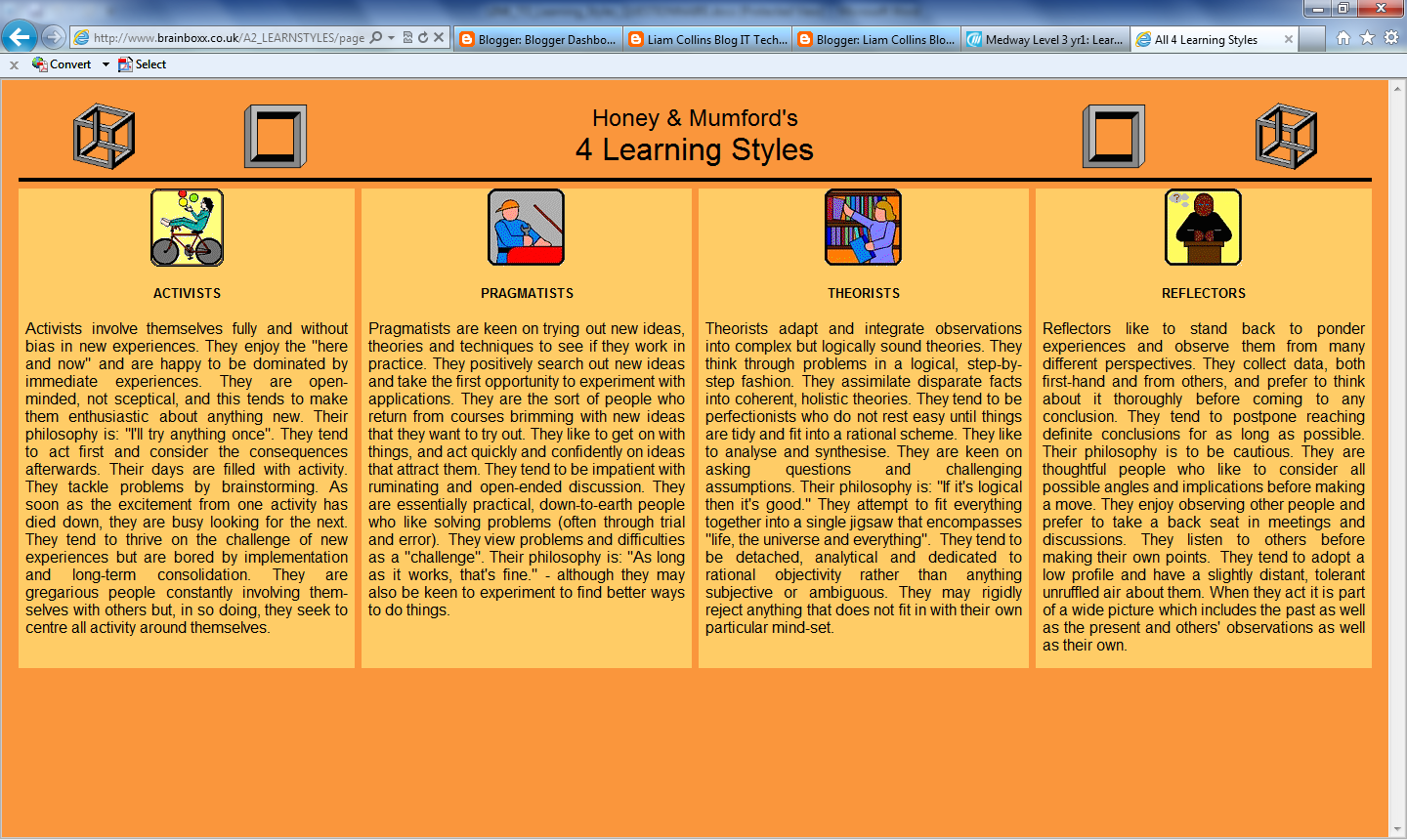learning styles assignment