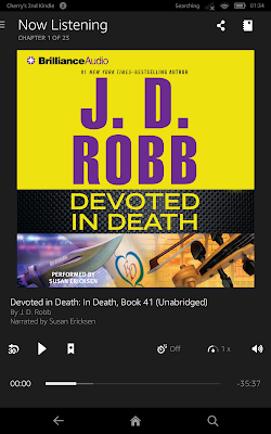 DEVOTED IN DEATH by JD Robb audiobook