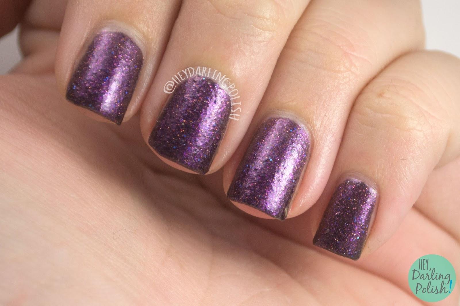 flor de muerto, purple, plum, glitter, halloween, nails, nail polish, indie polish, indie nail polish, hey darling polish, black dahlia lacquer,