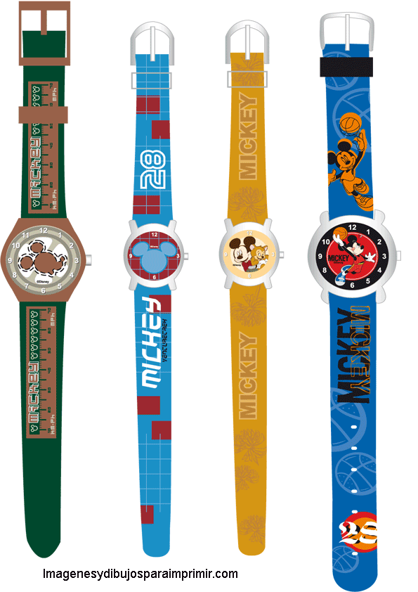 Relojes de pulsera de Mickey mouse