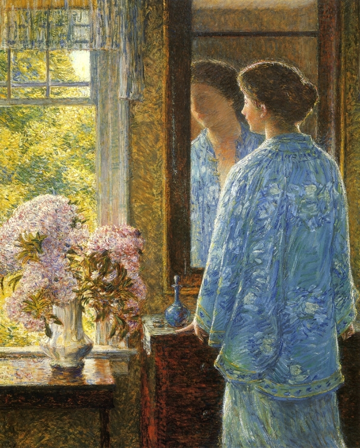 Childe Hassam 1859-1935 | American Impressionist painter | Ladies with flowers