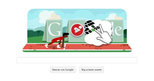Doodle de Google te invita a saltar vallas como en los Juegos Olímpicos
