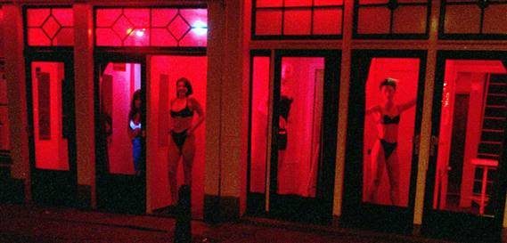 Amsterdam red light district sex shows